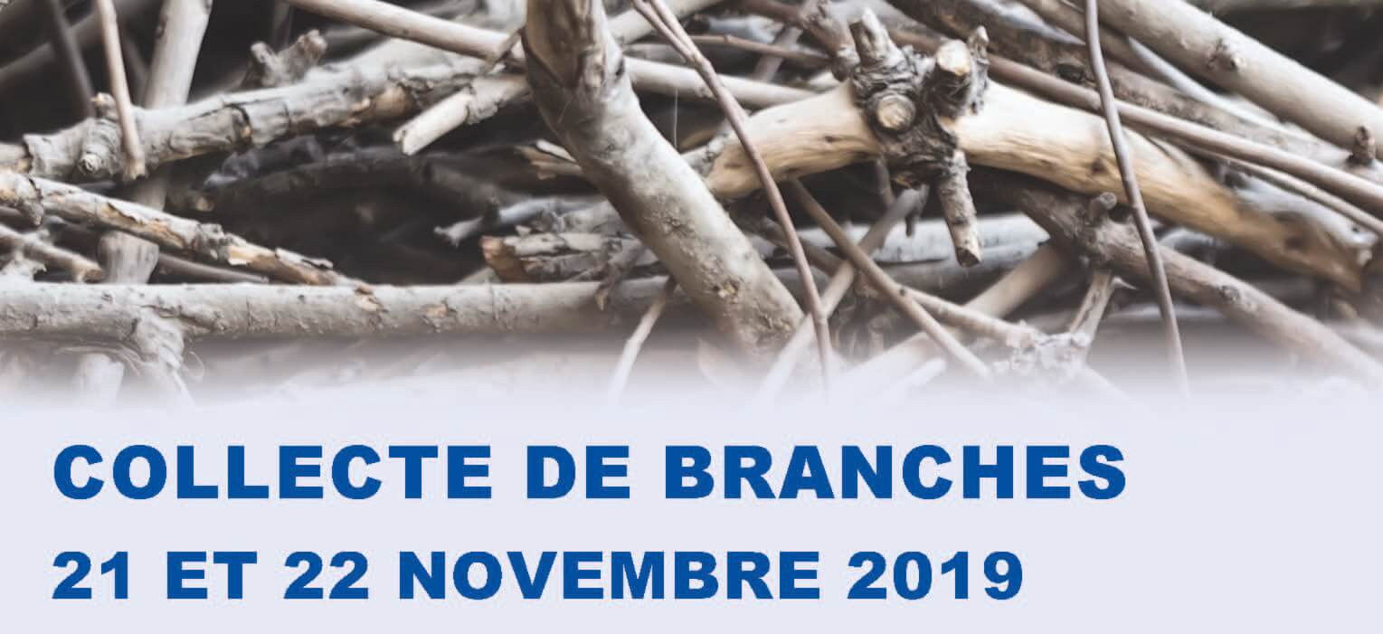 Collecte spéciale de branches les 21 et 22 novembre