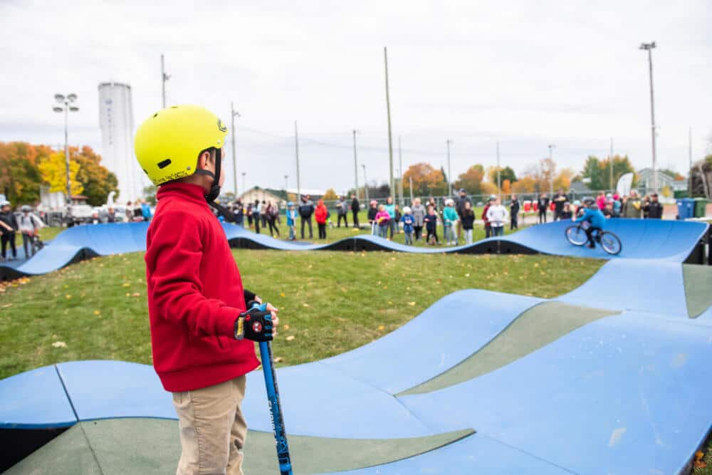 Inauguration de la plus grande piste de pumptrack au Québec